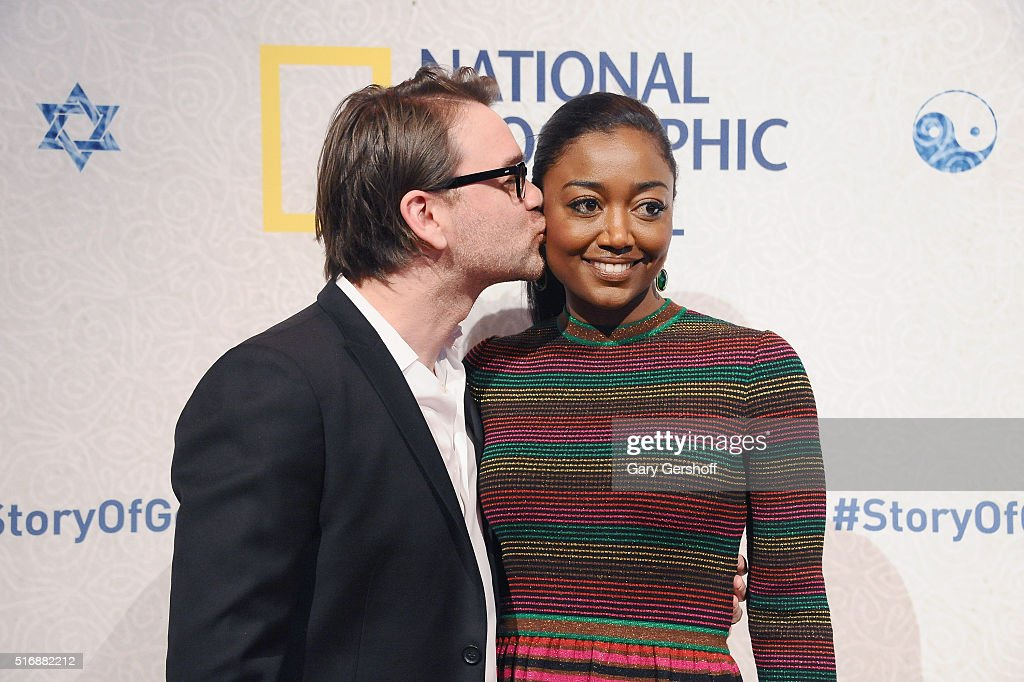 David Mars and actress Patina Miller attend the National Geographic 'The Story Of God' with Morgan Freeman world premiere at Jazz at Lincoln Center on March 21, 2016 in New York City.