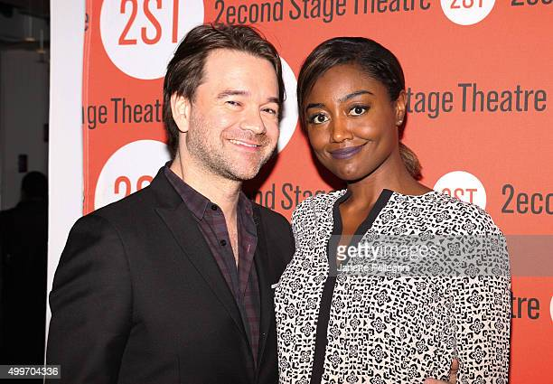 David Mars and Patina Miller attend Invisible Thread Opening Night After Party at Four at Yotel on December 2 2015 in New York City