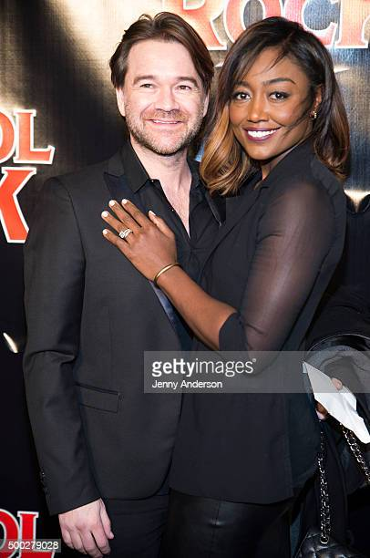 David Mars and Patina Miller attend School Of Rock Broadway Opening Night at Winter Garden Theatre on December 6 2015 in New York City