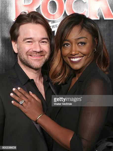 David Mars and Patina Miller attends the Broadway Opening Night Performance of 'School of Rock' at the Winter Garden Theatre on December 6 2015 in...