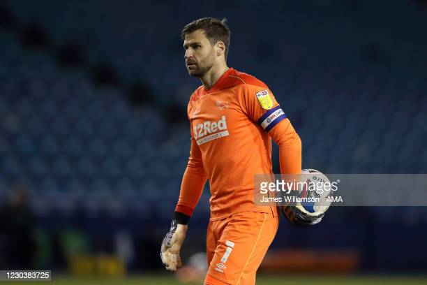 David Marshall of Derby County during the Sky Bet Championship match between Sheffield Wednesday and Derby County at Hillsborough Stadium on January...