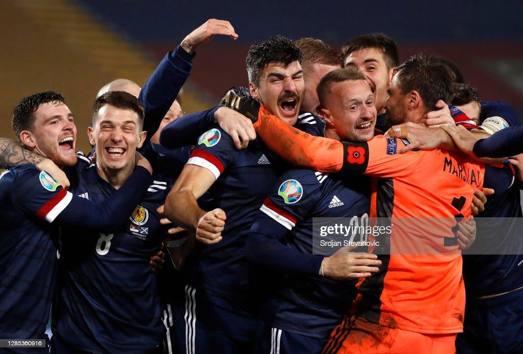 Serbia v Scotland - UEFA EURO 2020 Play-Off Finals : Foto jornalística