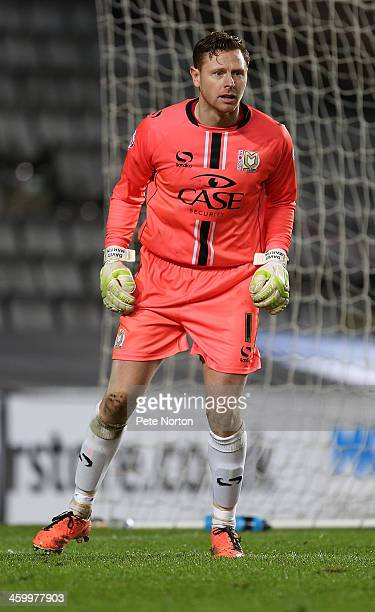 David Martin of Milton Keynes Dons in action during the Sky Bet League One match between Milton Keynes Dons and Colchester United at Stadium MK on...