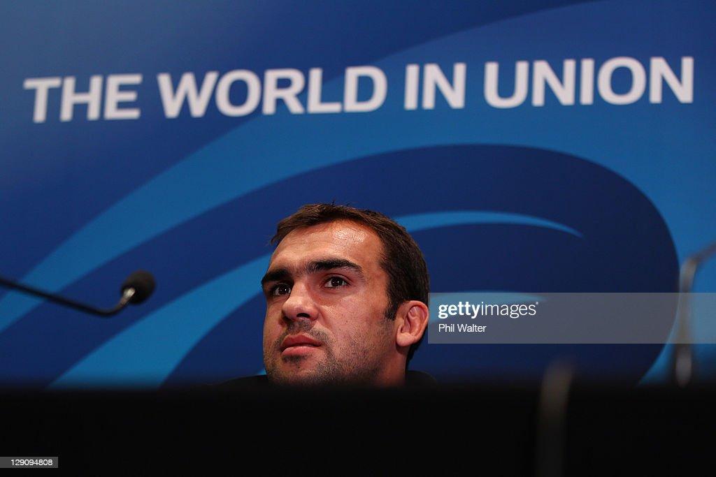 France IRB RWC 2011 Press Conference : News Photo