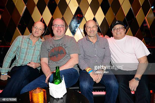 """David Massey, Steve Barrels, Barry Weiss and Vince Pellegrino attend Afrojack Private Listening Event for his Debut Album """"Forget The World"""" at W..."""