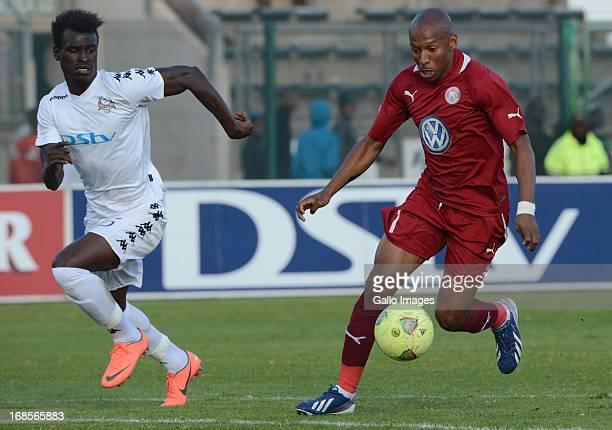 David Mathebula of Moroka Swallows during the Absa Premiership match between SuperSport United and Moroka Swallows at Lucas Moripe Stadium on May 11,...