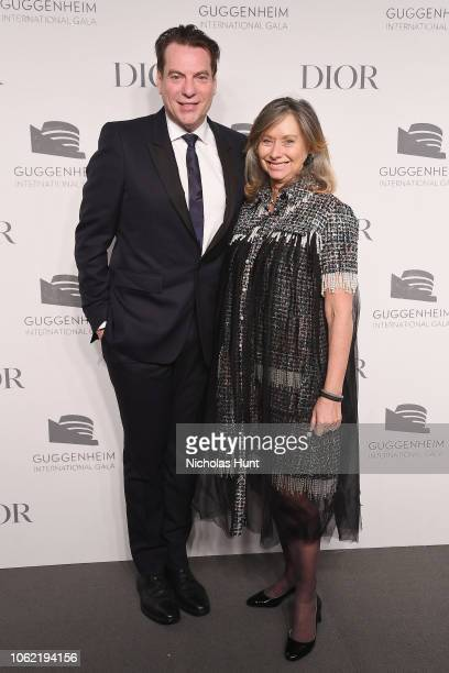 David Maupin and Anita Zabludowicz attend the Guggenheim International Gala Dinner made possible by Dior at Solomon R Guggenheim Museum on November...