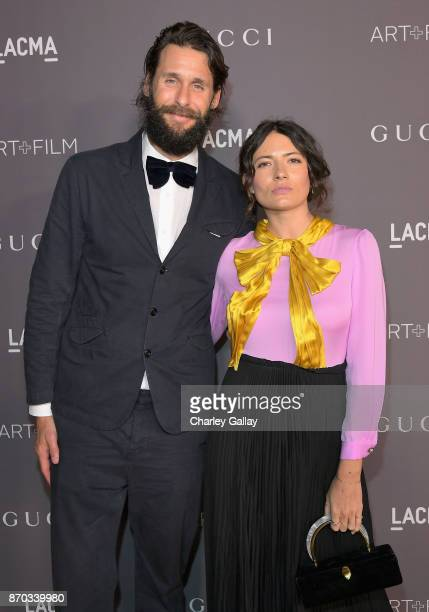 David Mayer de Rothschild and Karina Deyko attend the 2017 LACMA Art Film Gala Honoring Mark Bradford and George Lucas presented by Gucci at LACMA on...