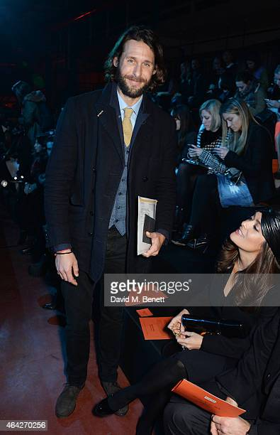 David Mayer de Rothschild attends the Hunter Original AW15 catwalk show during London Fashion Week Autumn/Winter 2015/16 on February 23 2015 in...