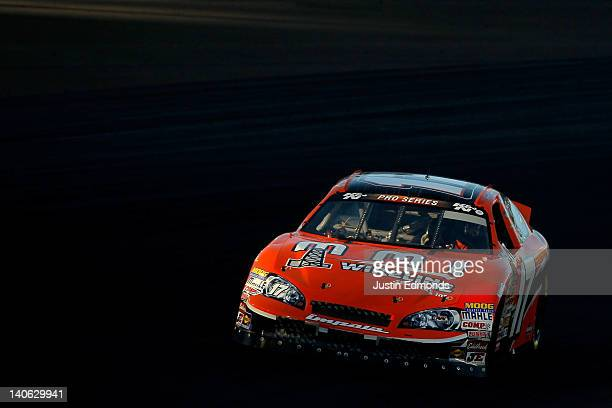 David Mayhew driver of the MMI Services/ Ron's Rear Ends Chevrolet competes during the NASCAR KN Pro Series West Talking Stick Resort 50 at Phoenix...
