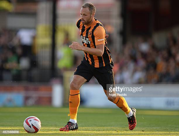 David Mayler of Hull City during the preseason friendly match between York City and Hull City at Bootham Cresent on July 23 2014 in York England