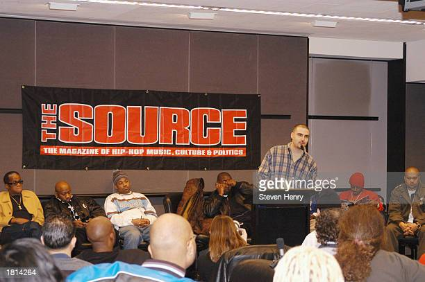David Mays The Source magazine founder speaks at The Source Magazine HipHop State of Emergency press conference held at the Millennium Hotel in...