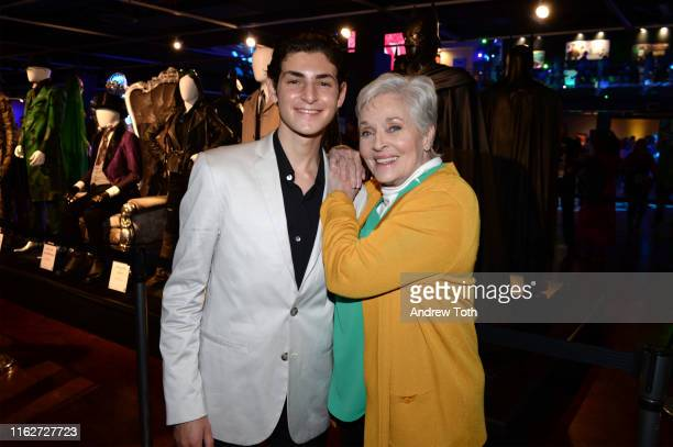 David Mazouz and Lee Meriwether attend The Batman Experience powered by ATT and ComicCon Museum character Hall Of Fame induction at Comic Con Museum...