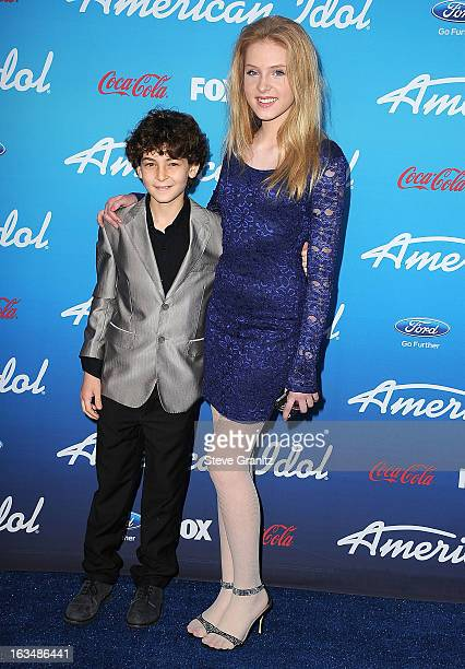 David Mazouz and Saxon Sharbino arrives at the FOX's 'American Idol' Meet The Finalists Event at The Grove on March 7 2013 in Los Angeles California
