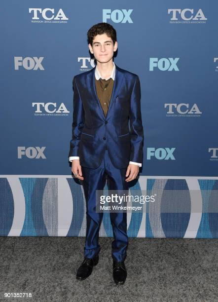 David Mazouz attends the FOX AllStar Party during the 2018 Winter TCA Tour at The Langham Huntington Pasadena on January 4 2018 in Pasadena California
