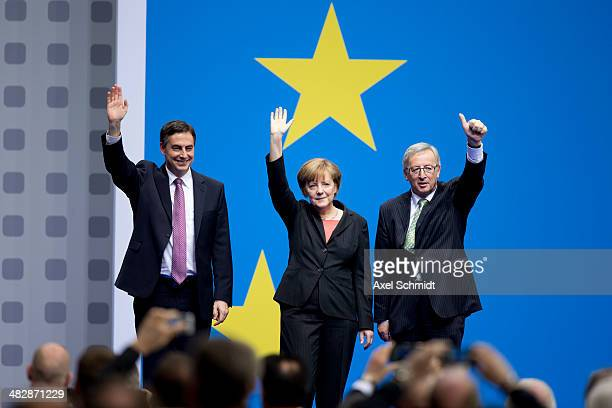 David McAllister top candidate of the CDU for European Parliament elections the German Chancellor and Chairwoman of the German Christian Democrats...