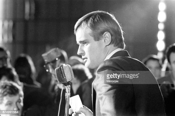 David McCallum actor who plays the role of secret agent Illya Kuryakin in NBC show The Man from 'UNCLE' attending news press conference at the Empire...