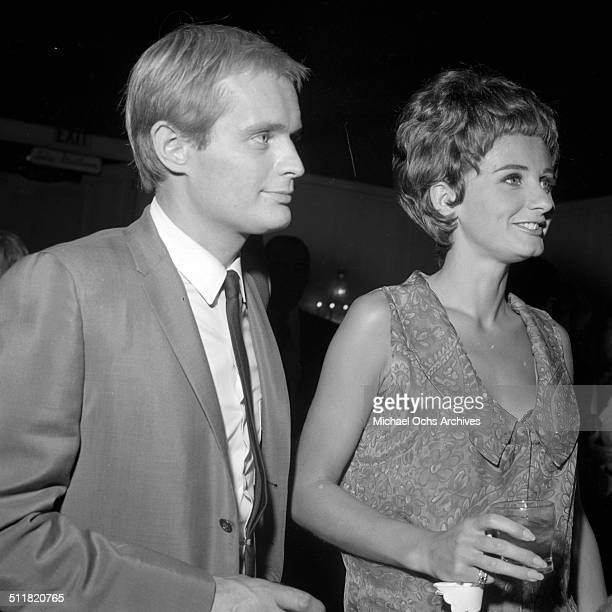 David McCallum and Jill Ireland attend the Emmy awards in Los AngelesCA