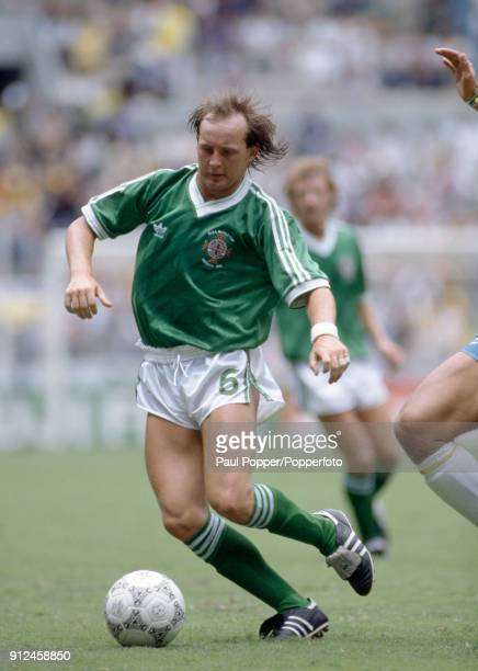 David McCreery in action for Northern Ireland during the FIFA World Cup match between Northern Ireland and Brazil at the Estadio Jalisco in...