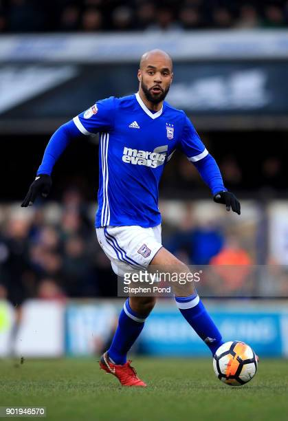 David McGoldrick of Ipswich Town during the Emirates FA Cup third round match between Ipswich Town and Sheffield United at Portman Road on January 6...