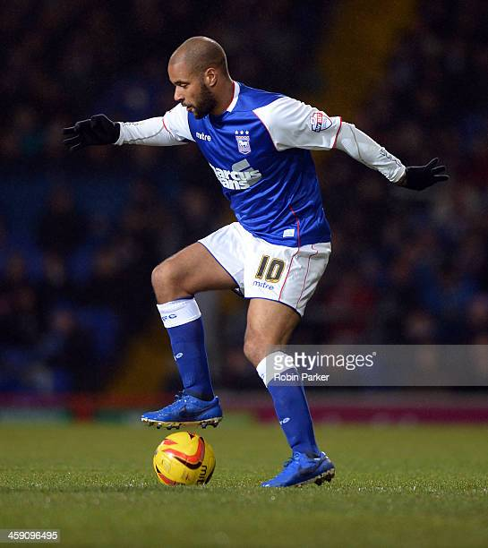 David McGoldrick of Ipswich Town during the Sky Bet Championship match between Ipswich Town and Watford at Portman Road on December 21 2013 in...