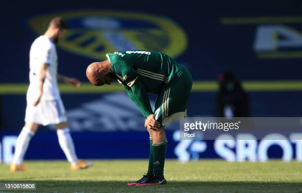 David McGoldrick of Sheffield United looks dejected at full-time after the Premier League match between Leeds United and Sheffield United at Elland...