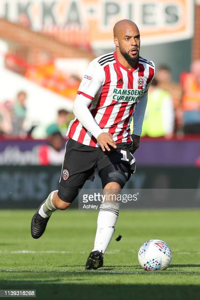 David McGoldrick of Sheffield United runs with the ball during the Sky Bet Championship match between Sheffield United and Bristol City at Bramall...