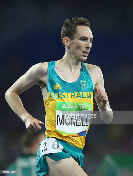 David McNeill of Australia competes in the Men's 10000m on Day 8 of the Rio 2016 Olympic Games at the Olympic Stadium on August 13 2016 in Rio de...