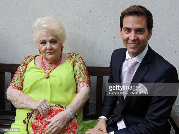 David Meca and Cuqui Fierro attend France National Day Celebration to commemorate the storming of the Bastille at France Embassy on July 14 2012 in...