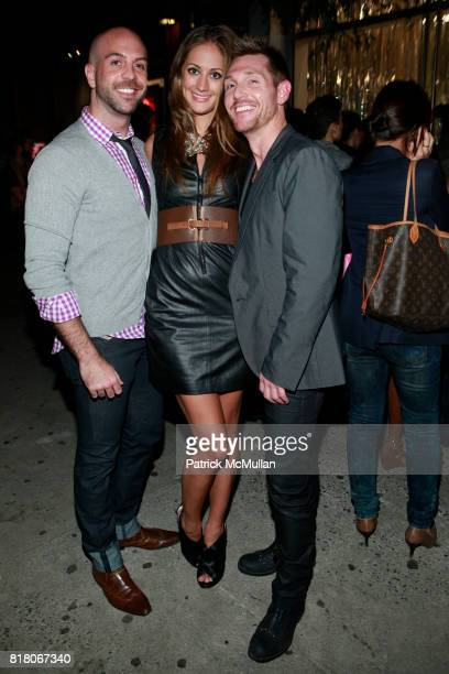 David Meister Erin Gray and Breken Elwood attend ELIE TAHARI SOHO Celebrates Fashion Night Out at Elie Tahari Store on September 10 2010 in New York...
