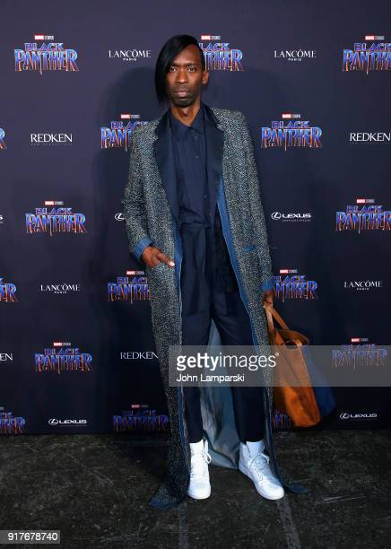 David Melton attends Marvel Studios Presents Black Panther Welcome To Wakanda during February 2018 New York Fashion Week The Shows at Industria...