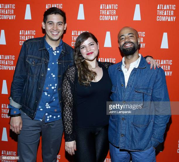 David Mendizabal Paola Lazaro and Sean Carvajal attend Darren Brown Secret opening night celebration at Atlantic Theater Company on May 16 2017 in...