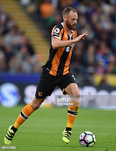 David Meyler of Hull City during the Premier League match between Hull City and Arsenal at KCOM Stadium on September 17 2016 in Hull England