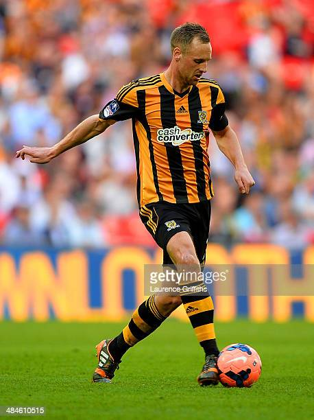 David Meyler of Hull City on the ball during the FA Cup with Budweiser semifinal match between Hull City and Sheffield United at Wembley Stadium on...