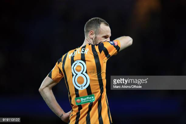 David Meyler of Hull City reacts during the FA Cup 5th Round match between Chelsea and Hull City at Stamford Bridge on February 16 2018 in London...