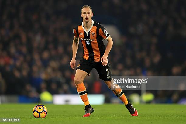 David Meyler of Hull in action during the Premier League match between Chelsea and Hull City at Stamford Bridge on January 22 2017 in London England