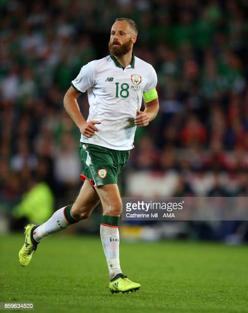 David Meyler of Republic of Ireland during the FIFA 2018 World Cup Qualifier between Wales and Republic of Ireland at Cardiff City Stadium on October...