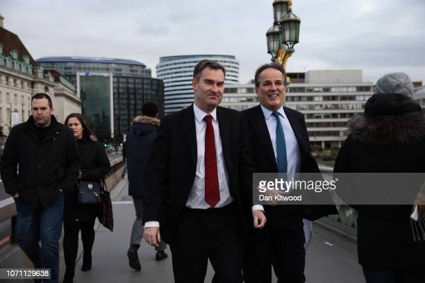 David Michael Gauke MP Secretary of State for Justice crosses Westminster Bridge on December 10 2018 in London England The Government are believed to...