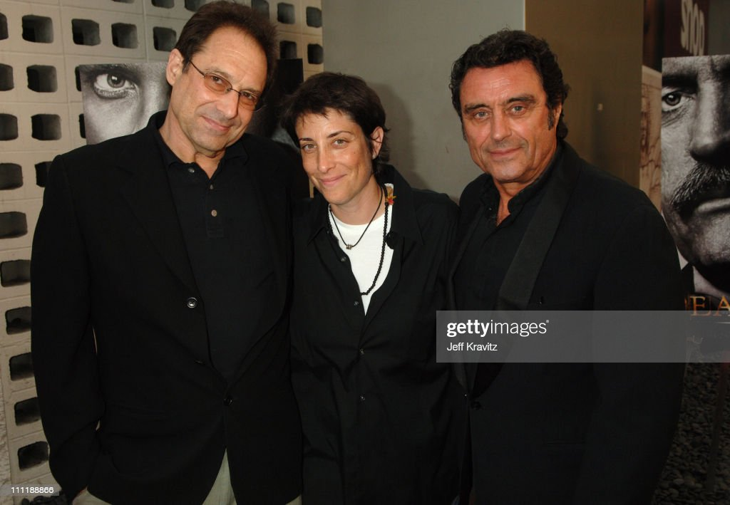 David Milch, creator/executive producer, Carolyn Strauss and Ian McShane