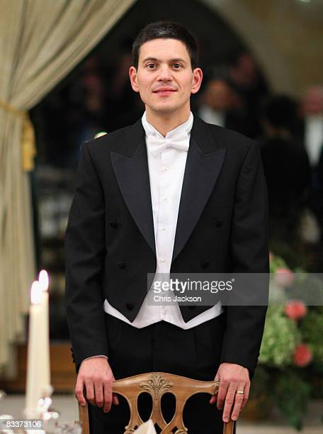 David Miliband attends a state banquet at Brdo Castle on the first day of a two day tour of Slovenia on October 21 2008 in Ljubljana Slovenia The...