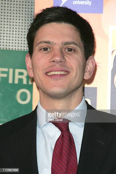 David Miliband during The International Indian Film Academy Awards Launch Photocall at Madame Tussauds in London Great Britain