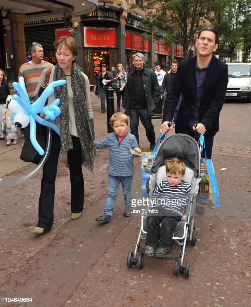 David Miliband wife Louise Shackelton and sons Isaac and Jacob sighted on October 2 2010 in London England
