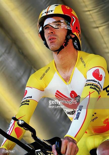 David Millar of Great Britain and Saunier Duval prepares to start the Tour  de France Prologue 62e7b39c4