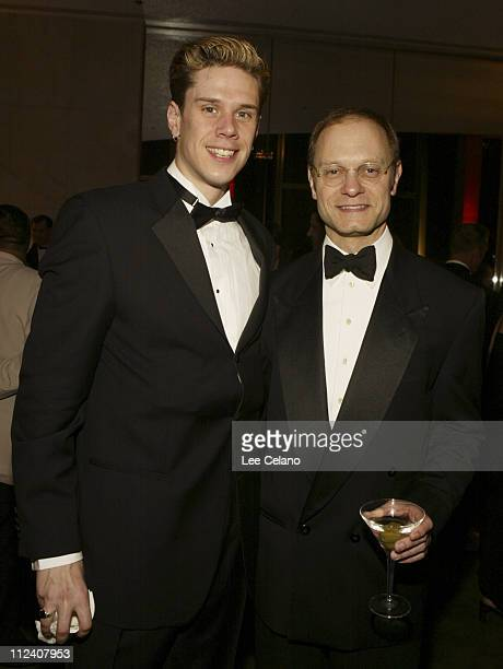 David Miller and David Hyde Pierce during Opening Night of La Boheme After Party at Dorothy Chandler Pavillion in Los Angeles California United States