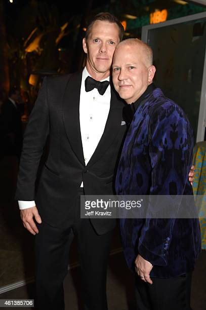David Miller and screenwriter Ryan Murphy attend HBO's Official Golden Globe Awards After Party at The Beverly Hilton Hotel on January 11 2015 in...