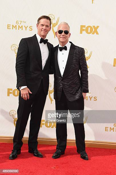 David Miller and writer/producer Ryan Murphy attend the 67th Annual Primetime Emmy Awards at Microsoft Theater on September 20 2015 in Los Angeles...