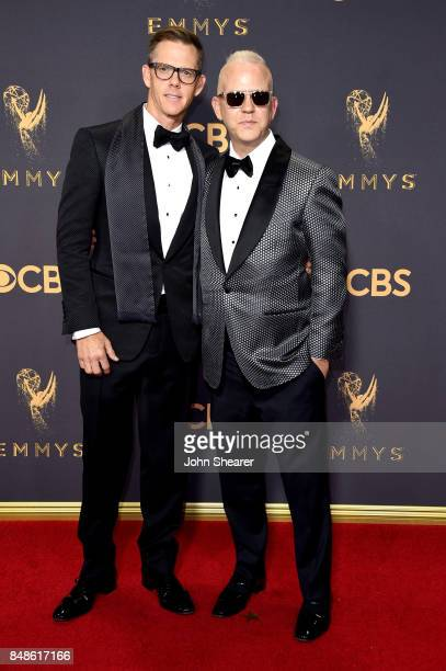 David Miller and writerproducer Ryan Murphy attend the 69th Annual Primetime Emmy Awards at Microsoft Theater on September 17 2017 in Los Angeles...