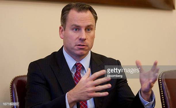 David Miller chief investment officer at the US Treasury Department's Office of Financial Stability speaks during an interview at the Treasury...