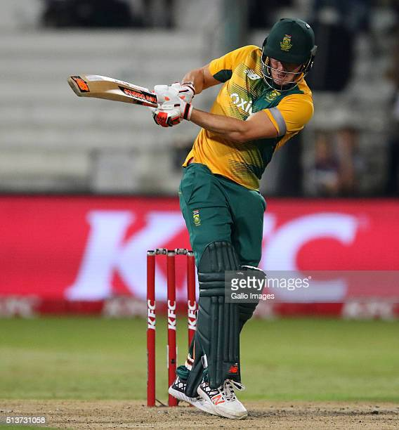 David Miller during the 1st KFC T20 International match between South Africa and Australia at Sahara Stadium Kingsmead on March 04 2016 in Durban...