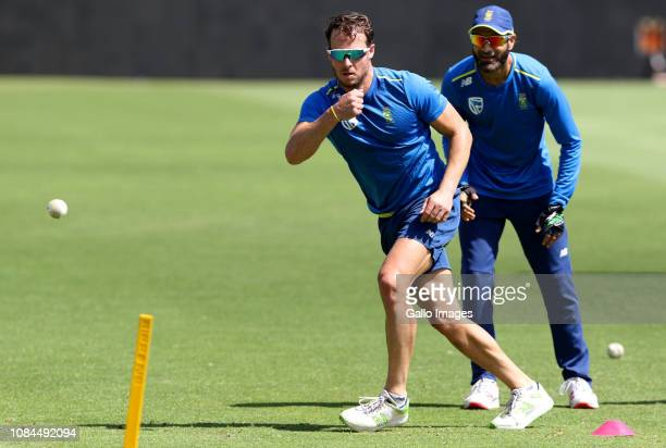 David Miller during the South African national cricket team training session at St Georges Park on January 18, 2019 in Port Elizabeth, South Africa.